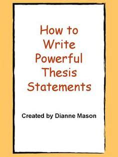 What is a Thesis Statement? Definition Explanation
